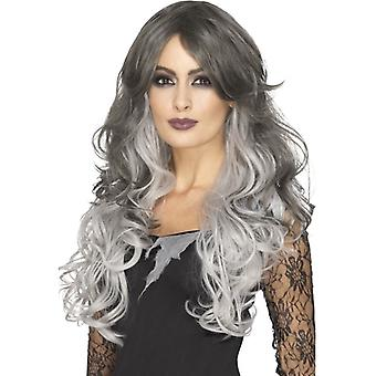 Womens Deluxe Gothic Bride Wig  Fancy Dress Accessory