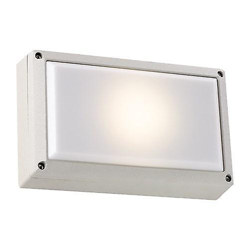 Endon EL-40036-SIL Low Energy Modern Silver Aluminium Outdoor Bulkhead