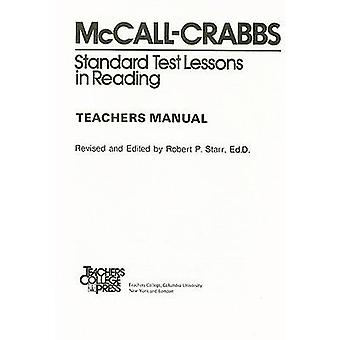 Standard Test Lessons in Reading by William A McCall - 9780807755525