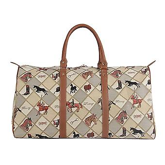 Equestrian sport travel big holdall by signare tapestry / bhold-eqst