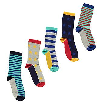 Crafted Essentials Boys 5 Pack Star Socks Infant