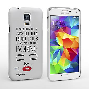 Cas de citation de visage Caseflex Samsung Galaxy S5 Marilyn Monroe