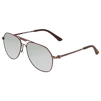 Breed Mount Titanium Polarized Sunglasses - Brown/Silver