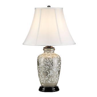 Elstead-1 Lichttafel lamp-wit, zilver finish-SILVERTHISTLE/TL
