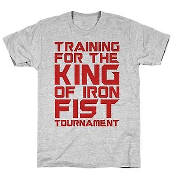 Training for the king of iron fist t-shirt