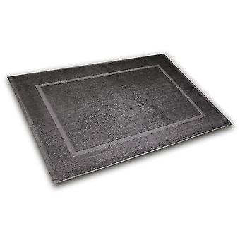 Alimentation de bain 50 x 70 cm anthracite de tapis de bain, fait de coton 100%, dans le sac poly.