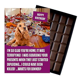 Cocker Spaniel Funny Birthday Gifts For Dog Lover Boxed Chocolate Greeting Card Present