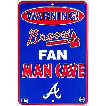 Atlanta Braves MLB Fan Man Cave Parking Sign