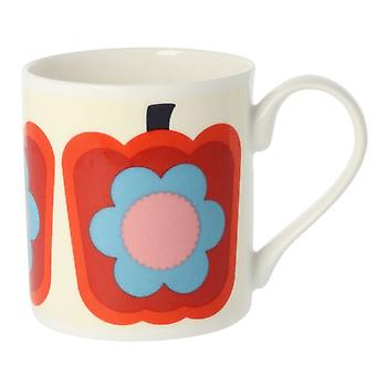 Orla Kiely Pepper Red Bone China Mug
