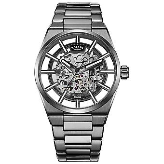 Rotary | Men's Greenwich Automatic Skeleton | Stainless Steel | GB05215/04 Watch
