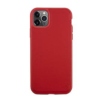 Eco Leather iPhone 11 Pro Max Case Back Shell - Red Tomato