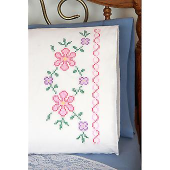Stamped Perle Edge Pillowcases 30