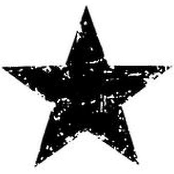 Tim Holtz Red Rubber Stamp Star Silhouette 1.5
