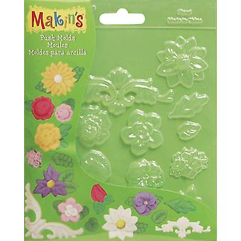 Makin's Clay Push Molds Floral M390 5