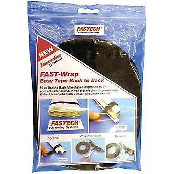 Hook-and-loop tape for houseplants and garden Hook and loop pad (L x W) 10000 mm x 16 mm Black Fastech 702-330-Bag 1 Rol