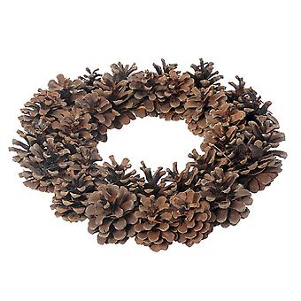 Natural Brown Pine Cone Christmas Wreath