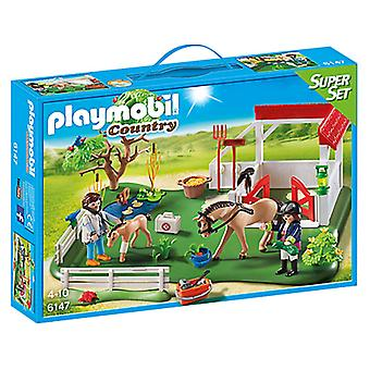 Playmobil 6147 Super Set Stable With Horses