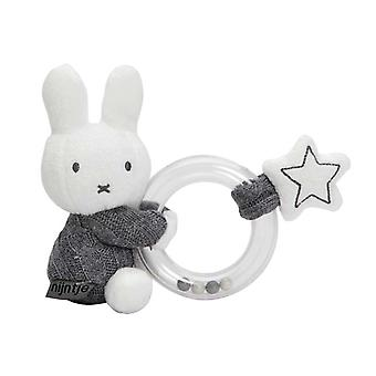 Miffy graue gestrickte Ring Rassel