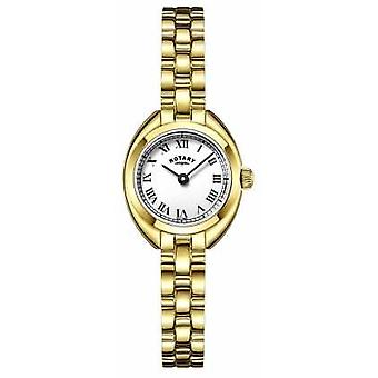 Rotary Womans Bracelet Strap Gold Plated LB05015/11 Watch