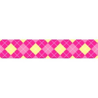 Tuff Lock 120cm Small Argyle Pink
