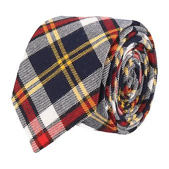 Andrews & co. narrow tie Club tie Plaid multi color 2
