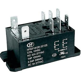 Plug-in relay 12 Vdc 30 A 2 change-overs Hongfa HF92F-012D-2C21S 1 pc(s)