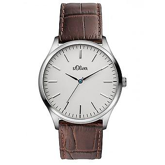 s.Oliver men's watch wristwatch leather SO-3171-LQ