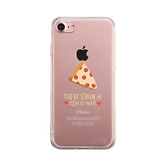 Pizza My Heart Funny Transparent Phone Case Cute Clear Phonecase
