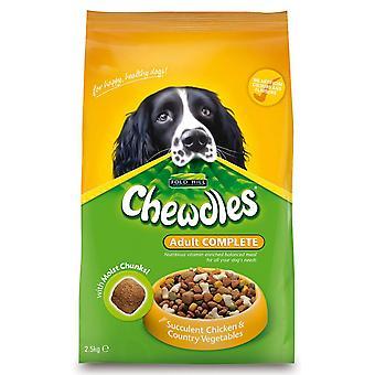 Chewdles komplet hund voksen semi-fugtig kylling & Veg 2,5 kg