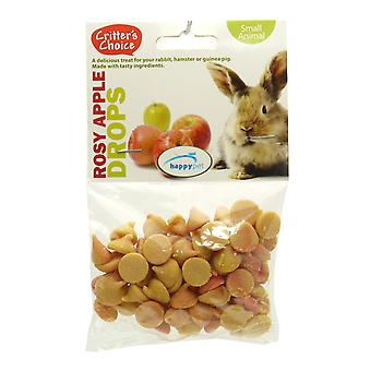 Critter Wahl rosigen Apfel Drops 75g (Packung mit 6)
