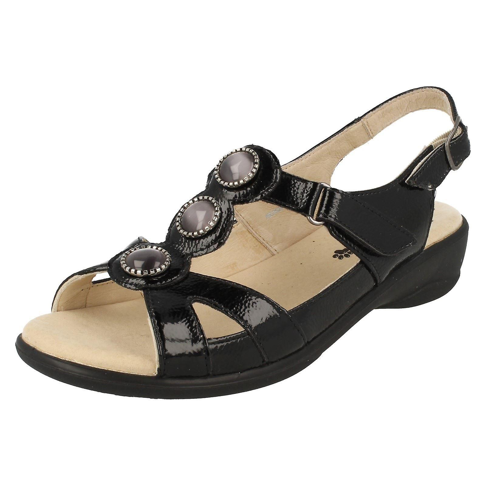 Ladies Open Precious Sandals Strap Padders Fitting Back Wide TSxzwTqtr