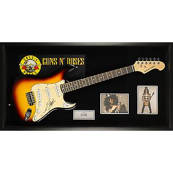 Slash Guns N' Roses Signed Guitar - Custom Framed - PSA/DNA COA