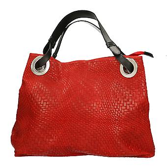 Women's handbag braided Print CTM real leather Made in Italy ï ¿38x28x10 .5 Cm