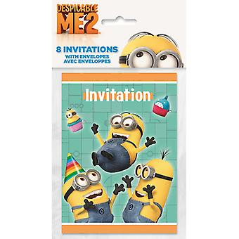 Despicable Me Party Invitations - High Five [8 Per Pack]