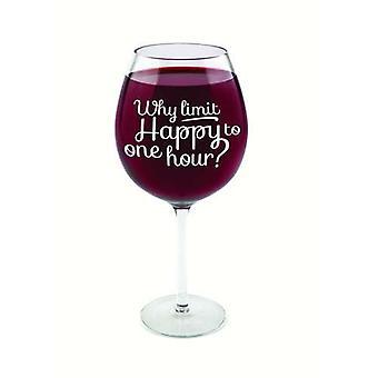 Weinglas riesig Happy Hour Glas  750 ml Scherzartikel