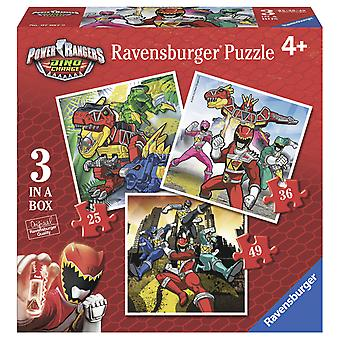 Ravensburger Power Rangers Puzzle Progresivo 25-36-49