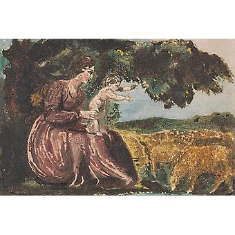 William Blake - Spring from Songs of Innocence Poster Print Giclee