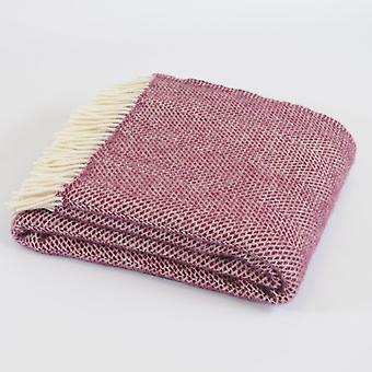 Tweedmill Pure New Wool Beehive Throw - Cherry