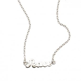 W.A.T Sterling Silver Chain Peace Necklace