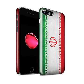 STUFF4 glans terug Snap-On telefoon Hardcase voor de Apple iPhone 7 Plus / Iran/Iraanse Design / vlaggen collectie