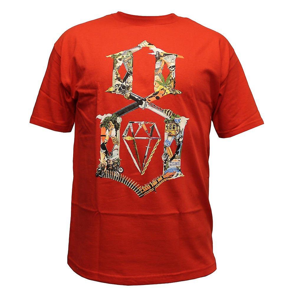 Rebel8 Logo Collage T-shirt Red