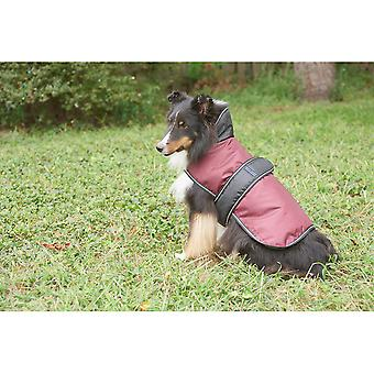 Dog Artic Coat-Burgundy Large 752526