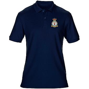 Saxa Vord RAF Station Embroidered Logo - Official Royal Air Force Mens Polo Shirt