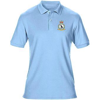 St Mawgan RAF Station Embroidered Logo - Official Royal Air Force Mens Polo Shirt