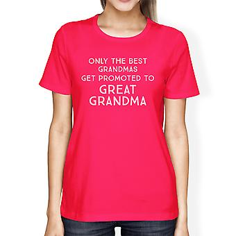 Promoted To Great Grandma Womens Graphic T-Shirt Grandmother Gifts