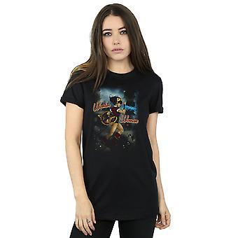 DC Comics Women's Wonder Woman Bombshell Cover Boyfriend Fit T-Shirt
