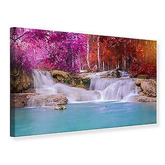 Leinwand drucken paradiesische Wasserfall