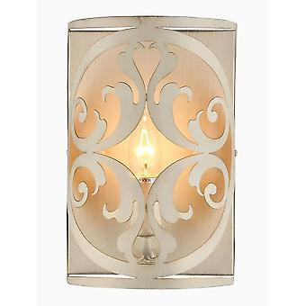 Maytoni Lighting Rustika House Collection Sconce, Cream Gold