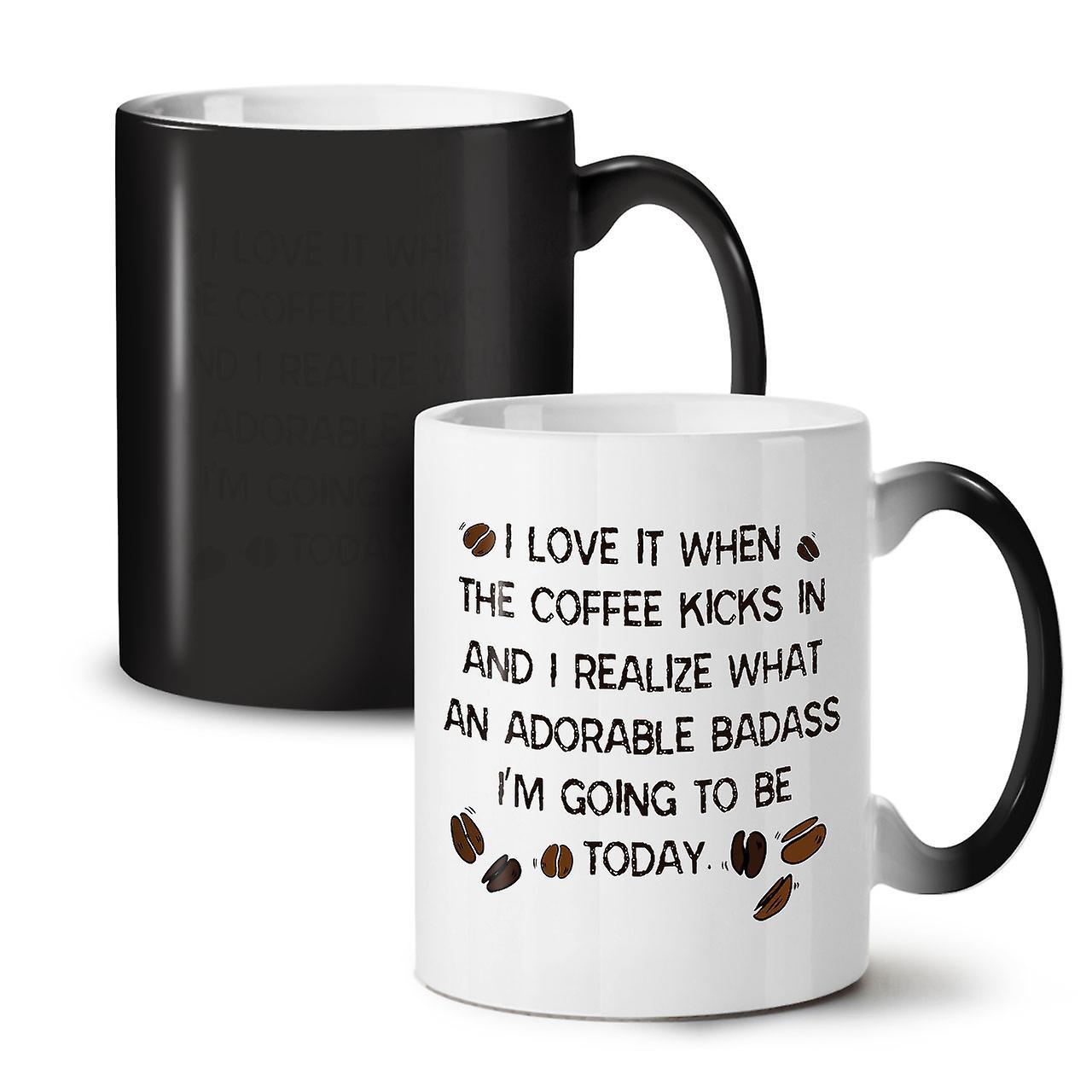 Love 11 Changing New Coffee Mug OzWellcoda Black Adorable Colour Ceramic Tea qUzMpSV