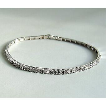 Christian white gold cubic zirconia bracelet